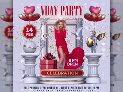 Valentine  Flyer Template love flyer love celebration poster party vals day party valentines flyer valentines day valentine flyer