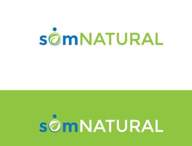 somNATURAL natural health vector design brand modern minimalist logo design logo design