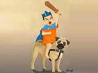 Pug Rider