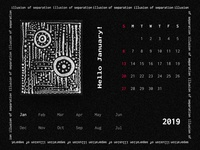 "Personal Art Project ""Illusion Of Seperation"" _ Calendar Design"