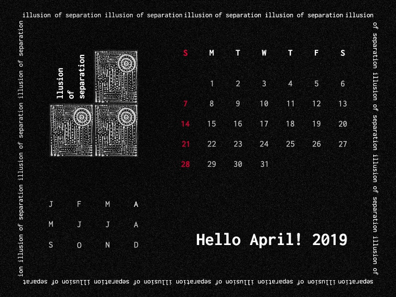 Art project   illusion of separation   calendar design concept2