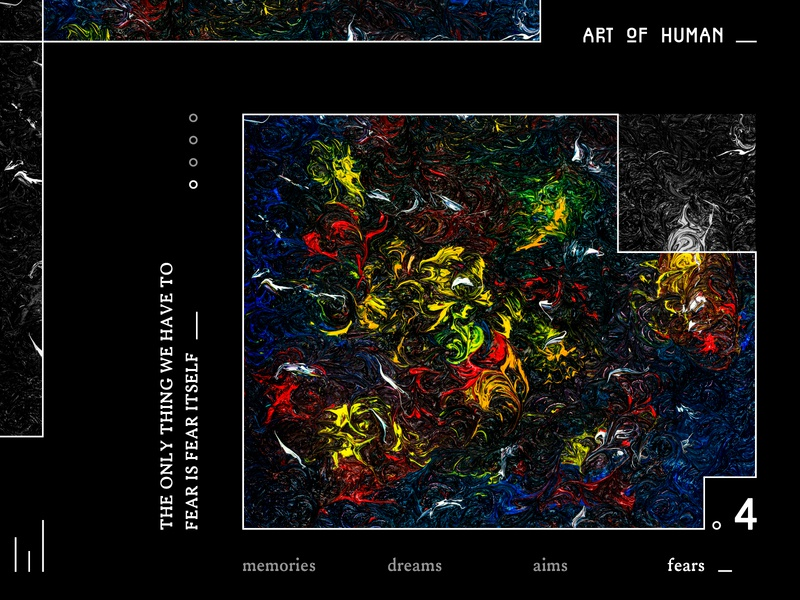 Art Of Human: Fears pattern web app ux ui ux design web desgin poster abstract artwork oil on canvas painting drawing clean minimalism identity art illustration concept design ui