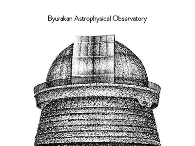 """Byurakan Astrophysical Observatory"" Illustration"