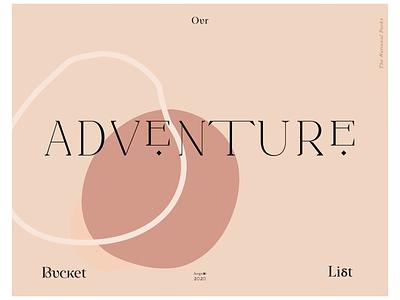 𝐁 . 𝐋 . 𝐀 ₁ typography graphic design titlepage title adventure bucket list photo album cover design work in progress