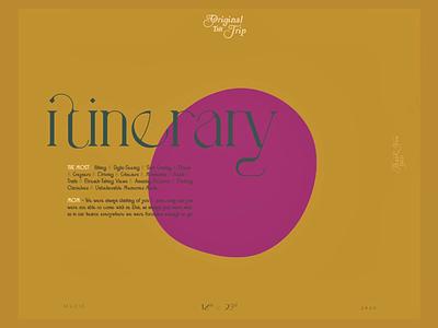 𝐁 . 𝐋 . 𝐀 ₃ photography book book design travel book travel typography graphic design itinerary design agenda design itinerary