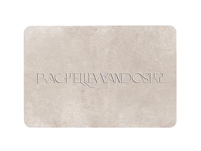 Business Card 2 neutral colors texture business card velvet texture velvet embossed lettering embossed business card