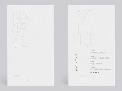H M U white minimalist embossed embossed lettering print design graphic design lettering typography branding business card design