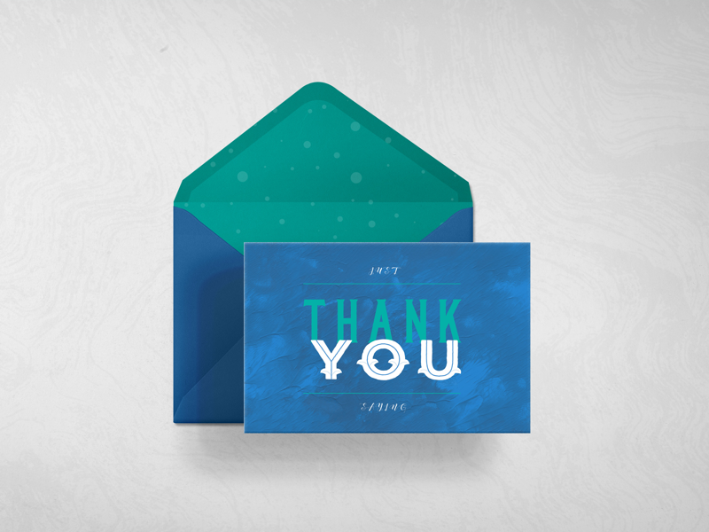 T.Y CARD | Front nautical typography collateral design card design thank you card thank you