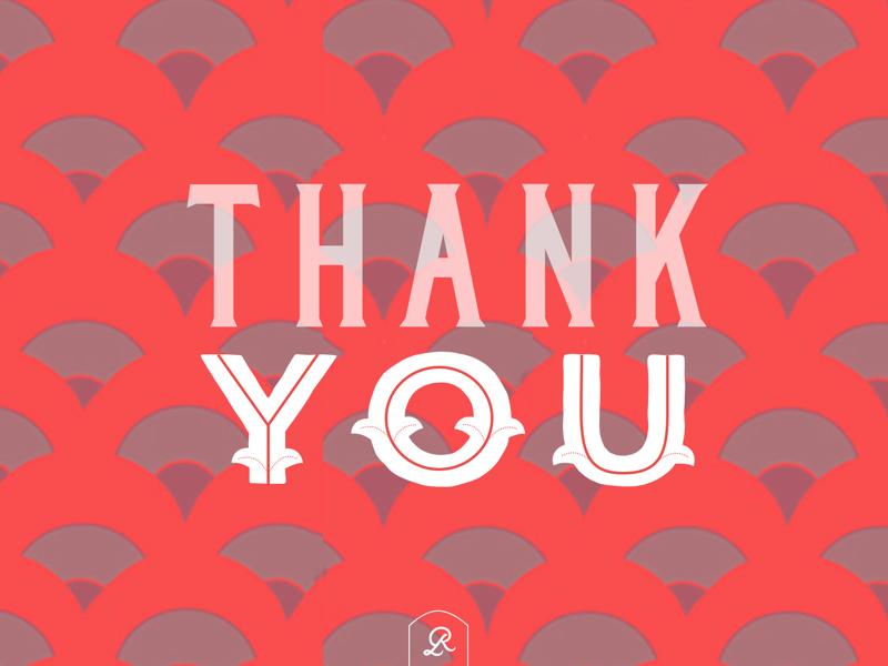 THANK YOU pattern design scales print design card design thank you card thank you