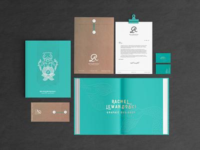 RL | UPDATED BRAND STATIONERY gold lettering texturized turquoise business card design envelope design branding mermaid letterhead brand identity stationery
