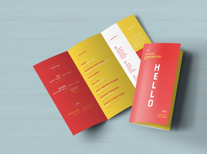 Resume Trifold II print design resume mockup mockup resume trifold trifold branding resume design resume