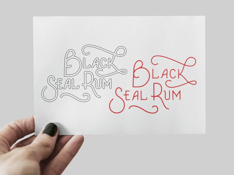 Black Seal Rum logo idea hand lettering typography blacksealrum beverage logo rum logo design logo