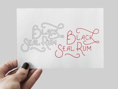 Black Seal Rum logo idea