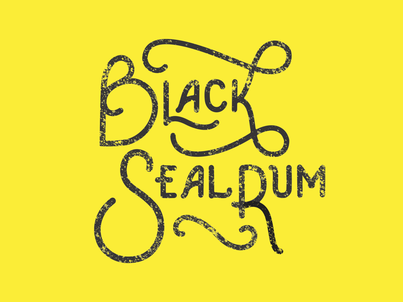 Black Seal Rum iii logo design hand lettering typography