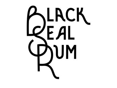 B.S.R Logo blacksealrum logo design graphic design logo typography lettering print design branding