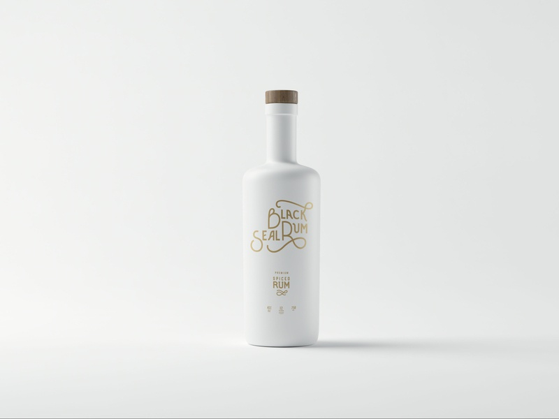 B.S.R hand lettering alcohol packaging alcohol branding product design lettering typography mockup branding graphic design