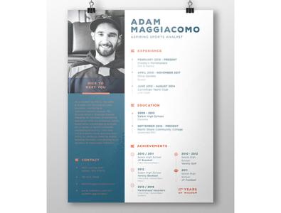 RESUME / for Adam baseball baseball resume resume clean layout design sports resume resume design resume