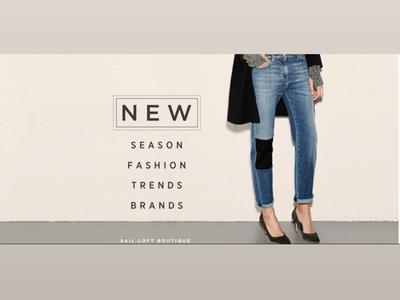 Sail Loft Boutique Banner Ad rebrand graphic design fashion ad design web ads web design banner ad