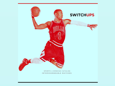 Switchups | Catalogue Cover product design branding company launch nba print design watches catalog design catalog