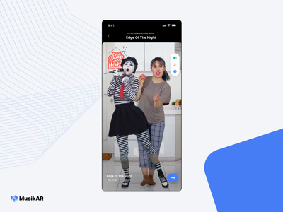 Elevating Music Experience Through Mixed Reality mixed reality music player uiux ux ui music app music streaming immersive interactive musician music dance sing augmented reality app karaoke concert xr