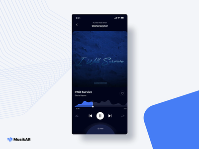 MusikAR Karaoke user experience sixty two sixtytwo application music player product design mixed reality music streaming app ux ui ar augmented reality sing music app social distancing covid concert music karaoke
