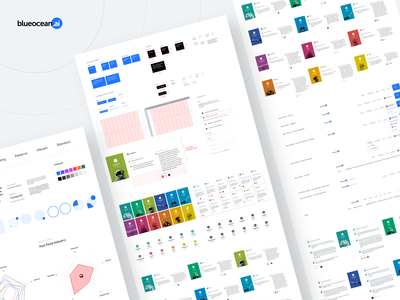 Blueocean Style Tiles web design web ux ui ai style tile styleframe styleguide dashboard style tiles charts branding brand identity brand benchmark artificial intelligence archetype analytics aidentity