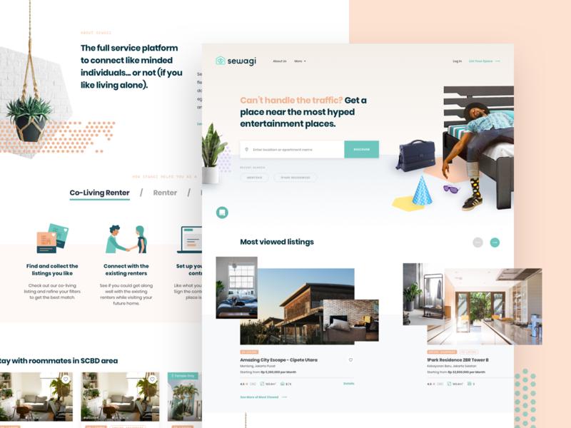 Sewagi | Dashboard dashboard design coliving co-living dashboard rent housing rental community experience lifestyle social desktop
