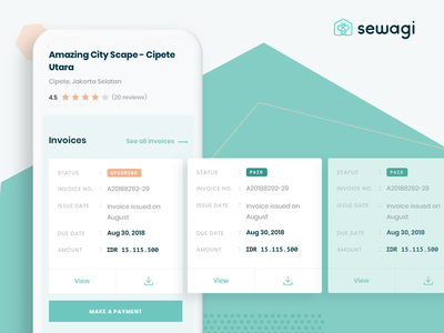 Sewagi | Split Bills payment co-living housing rental invoice community experience lifestyle mobile app social desktop split bill