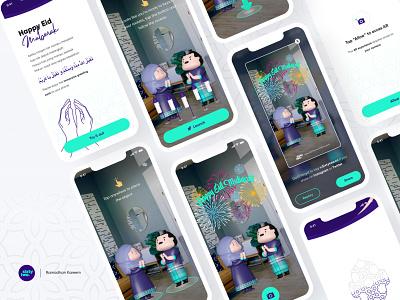 AR Greeting Card | Happy Eid Mubarak lebaran characters mixedreality xr webar 8thwall eid greetings augmentedreality