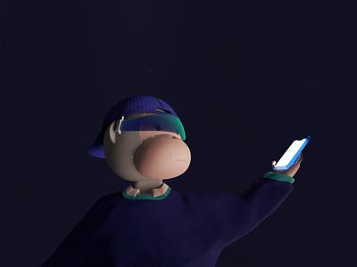 3d Monkey app illustration 3d animation