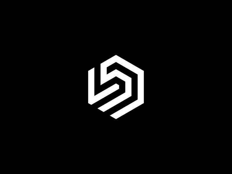 D logo monochrome simple minimalist logomark flat agasurohui monogram design logo lettermark