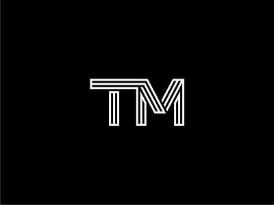 Tm tm monochrom monogram logotypo logomark lettermark logo