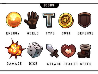 12 Realms: Dungeonland Icons graphic design board game rpg fantasy design illustration icon boardgame