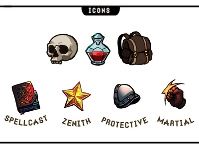 12 Realms: Dungeonland Icons 2 graphic design board game rpg illustration icon fantasy design boardgame