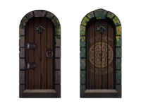 12 Realms: Dungeonland Door token