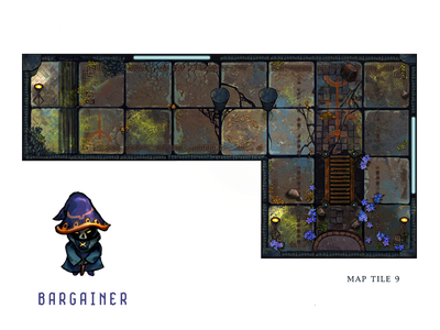 12 Realms: Dungeonland Map Tile 9 map tile board game fantasy rpg design character tile boardgame