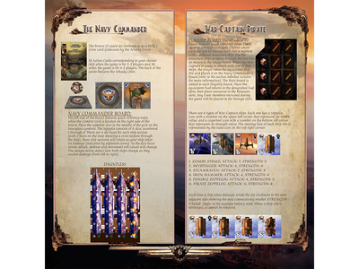 Aether Captains Rulebook boardgame icon illustration design layout rulebook board game graphic design rule book