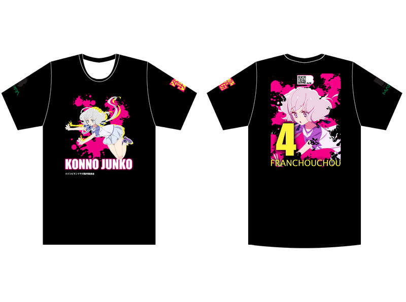 Zombieland Saga Junko Black Tee shirt design manga zombieland saga anime