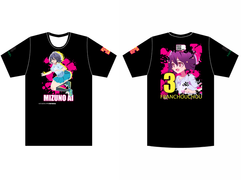 Zombieland Saga Ai Black Tee shirt design shirt zombieland saga manga anime