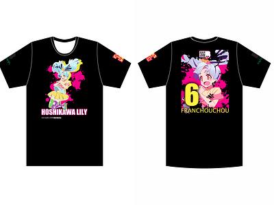 Zombieland Saga Lily Black Tee shirt design shirt zombieland saga manga anime