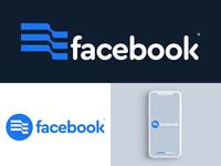 Facebook logo concept