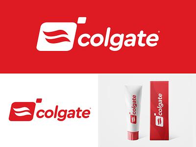 Colgate logotype logo mark mark rebrand branding toothpaste simple logo design logo icon colgate