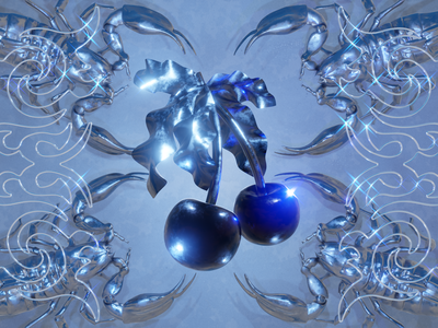 Black Cherry animation cumbia y2k lyric video video music video music blender b3d illustration 3d render 3d