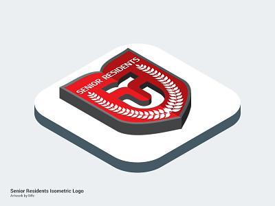 Isometric : Senior Residents Telkom University photoshop logo isometric