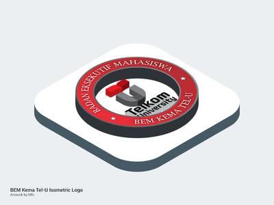 Isometric : BEM Kema Telkom University photoshop logo isometric