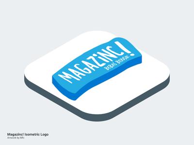 Isometric : Magazinc! photoshop logo isometric