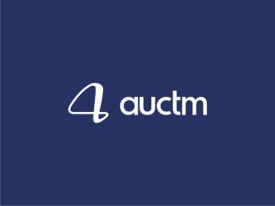 Logo design for Auctm logo design brand identity icon branding vector typography logo illustrator sketch design