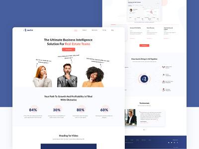 Auctm website design user interface realestate teams business management realestate ui design website design xd design typography branding ui illustration design