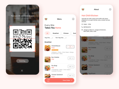 Menu design for Scanmenu24 minimal design digital menu design on figma menu ui ux food ordering mobile ui scan menu branding menu design ui design