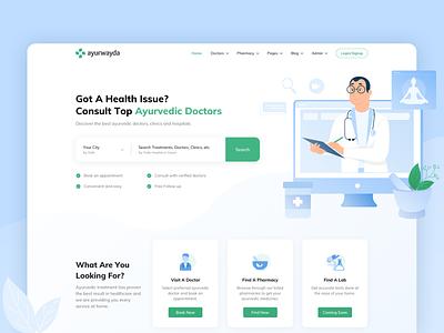 Ayurwayda   Branding & Website uidesign uiux medical website packaging minimal illustration identity health branding